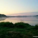 Poranek nad jeziorem Gołuń