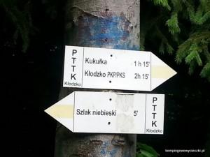 ostatnie oznakowanie szlaku na Kłodzką Górę