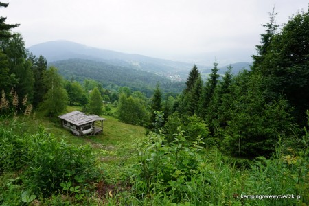 szlak na najwyższy szczyt Beskidu Makowskiego Lubomir
