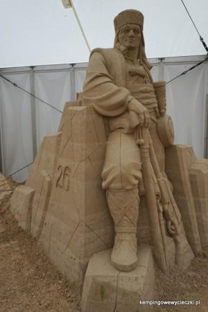Janosik figura z piasku