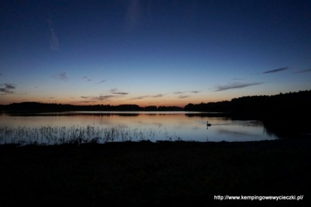 zachód słońca w agroturystyce Połajewek
