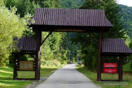 Gorczański Park Narodowy wjazd z Koninek