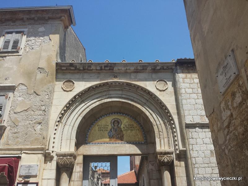 Mozaika nad wejściem do Bazyliki świętego Eufazjana Poreć
