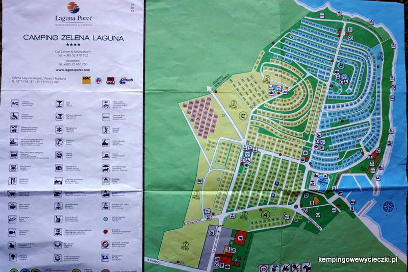 zdjcie przedstawia plan kampingu Zelena Laguna