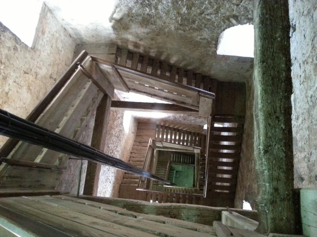 schody na dzwonnicę w Rovinj