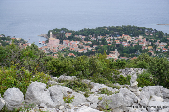 Veli Losinj widok ze wzgórza Sv Ivana