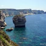 Wizytówka Bonifacio oderwana skała