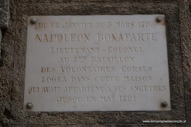 Napoleon Bonaparte w Bonifacio