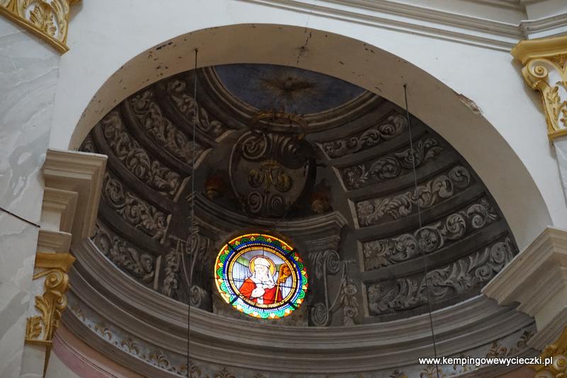 na zdjęciu sklepienie kopuła Eglise Ste-Marie-Majeure, Calvi