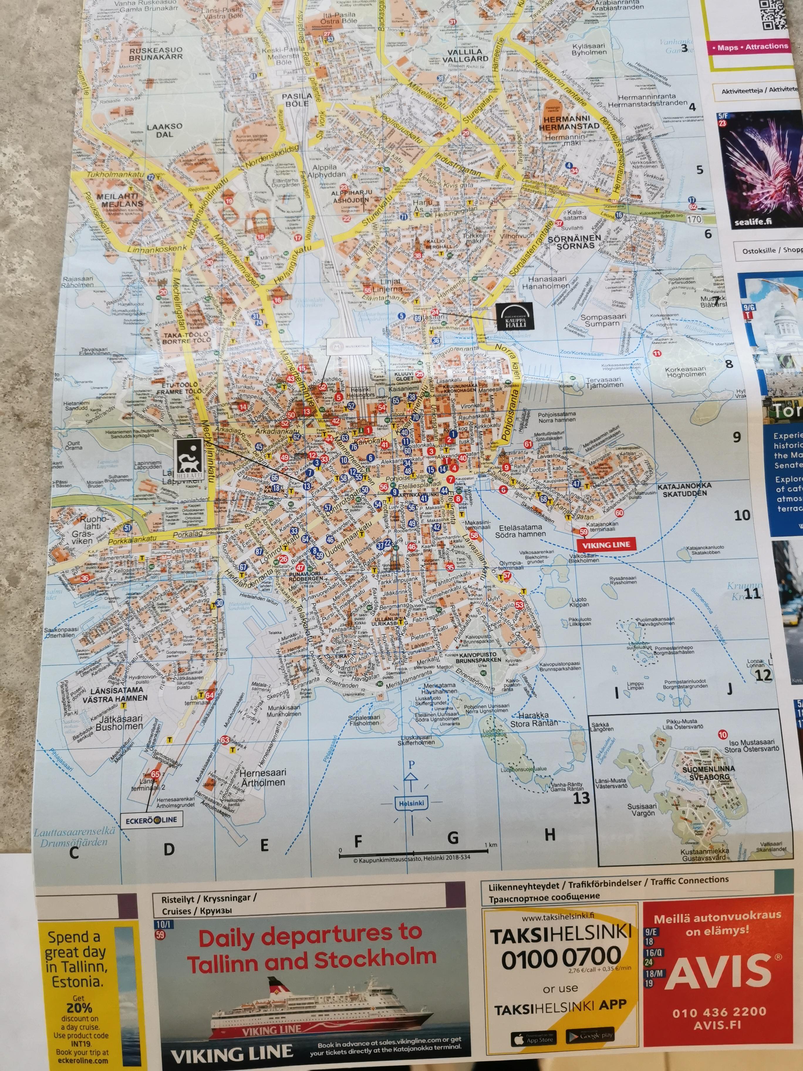 Helsinki mapa