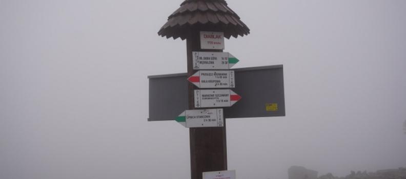 Babia Góra 1725 m npm