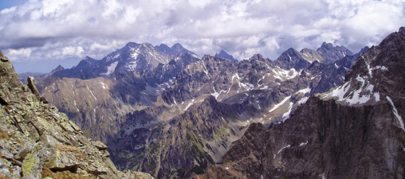 Rysy 2499 m n.p.m. najwyższe szczyty gór w Polsce 5/28