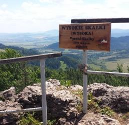 Wysoka (Wysokie Skałki) 1050 m n.p.m. Pieniny Najwyższe szczyty gór w Polsce 6/28